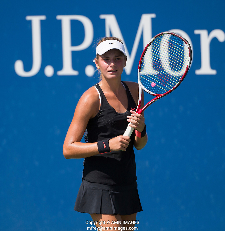 KATARINA ZAVATSKA (UKR)<br /> <br /> The US Open Tennis Championships 2015 - USTA Billie Jean King National Tennis Centre -  Flushing - New York - USA -   ATP - ITF -WTA  2015  - Grand Slam - USA  <br /> <br /> &copy; AMN IMAGES