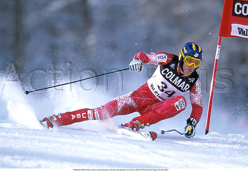 THOMAS VONN (USA), Men's Giant Slalom, World Cup Skiing, Val D'Isere 001210 Photo:Neil Tingle/Action Plus...2000.winter sport.winter sports.wintersport.wintersports.alpine.ski.skier.man