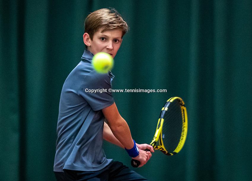 Wateringen, The Netherlands, December 4,  2019, De Rhijenhof , NOJK 14 and18 years, Bas Bouwman (NED)<br /> Photo: www.tennisimages.com/Henk Koster