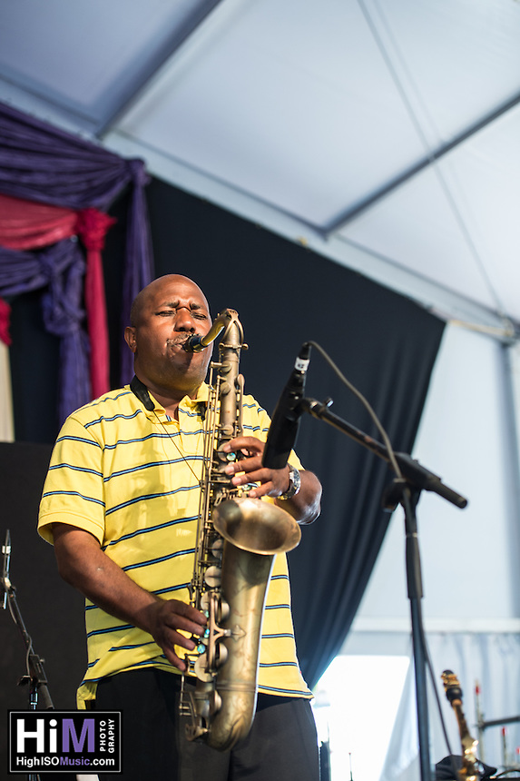Germaine Bazzle performs at the 2014 Jazz and Heritage Festival in New Orleans, LA.