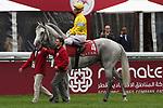 October 07, 2018, Longchamp, FRANCE - Way to Paris with Gerald Mosse up at the parade for the Qatar Prix de l'Arc de Triomphe (Gr. I) at  ParisLongchamp Race Course  [Copyright (c) Sandra Scherning/Eclipse Sportswire)]