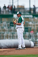 Fort Wayne TinCaps starting pitcher Efrain Contreras (23) during a Midwest League game against the Kane County Cougars at Parkview Field on May 1, 2019 in Fort Wayne, Indiana. Fort Wayne defeated Kane County 10-4. (Zachary Lucy/Four Seam Images)