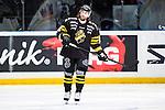 Stockholm 2014-01-18 Ishockey SHL AIK - F&auml;rjestads BK :  <br /> AIK:s Daniel Josefsson  ser nedst&auml;md ut<br /> (Foto: Kenta J&ouml;nsson) Nyckelord:  depp besviken besvikelse sorg ledsen deppig nedst&auml;md uppgiven sad disappointment disappointed dejected portr&auml;tt portrait