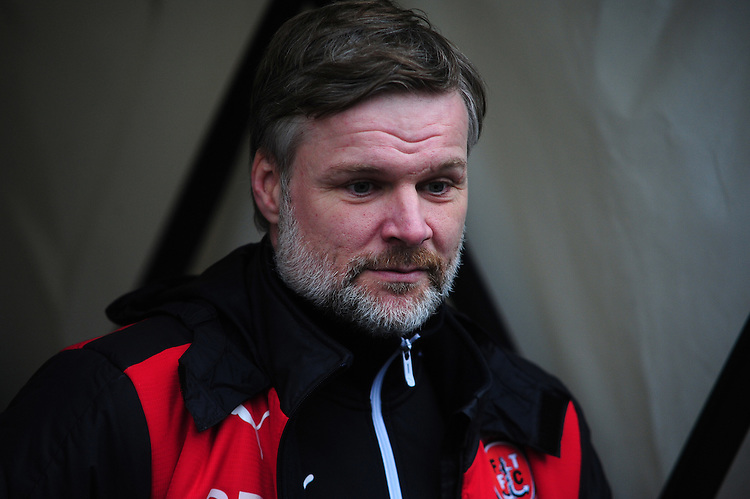 Fleetwood Town manager Steven Pressley <br /> <br /> Photographer Andrew Vaughan/CameraSport<br /> <br /> Football - The Football League Sky Bet League One - Coventry City v Fleetwood Town - Saturday 27th February 2016 - Ricoh Stadium - Coventry   <br /> <br /> &copy; CameraSport - 43 Linden Ave. Countesthorpe. Leicester. England. LE8 5PG - Tel: +44 (0) 116 277 4147 - admin@camerasport.com - www.camerasport.com