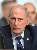 United States Senator Dan Coats (Republican of Indiana) listens as witnesses are questioned during an open hearing held by the US Senate Select Committee on Intelligence to examine worldwide threats on Capitol Hill in Washington, DC on Tuesday, February 9, 2016.<br /> Credit: Ron Sachs / CNP
