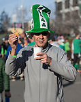 Race director Eric Lerude during the 7th annual Leprechaun Race in downtown Reno, Nevada on Sunday, March 17, 2019.