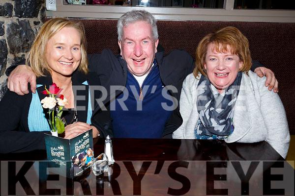Enjoying a night out in the Brogue Inn on Saturday night last from Abbeydorney.<br /> L-r Margaret and Kieran Shaughnessy and Cathy Murnane.