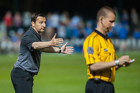 Kansas City, Mo. - Saturday April 23, 2016: FC Kansas City head coach Vlatko Andonovski. FC Kansas City hosts Portland Thorns FC at Swope Soccer Village.