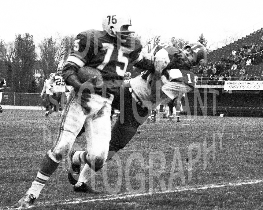 Aubrey Linne Toronto Argonauts 1963. Photo copyright Scott Grant