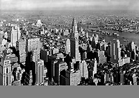 View from Empire State Building to Chrysler Bldg. and Queensboro Bridge, low viewpoint. Jan 1932.<br /> <br /> Photo by Gottscho-Schleisner