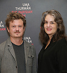 Beau Willimon and Pam MacKinnon attends the Meet & Greet Photo Call for the cast of Broadways 'The Parisian Woman' at the New 42nd Street Studios on October 18, 2017 in New York City.