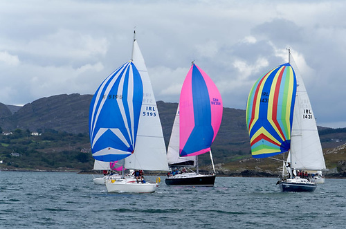 Part of the 17-boat Schull Harbour fleet racing to the Fastnet Rock