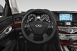 Car pictures of steering wheel view of a 2015 Infiniti Q70 Premium 4 Door Sedan 2WD Steering Wheel