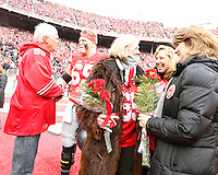 Ohio State Buckeyes offensive lineman Pat Elflein (65) was recognized during Senior Day before Saturday's NCAA Division I football game against Michigan at Ohio Stadium in Columbus on November 26, 2016. (Barbara J. Perenic/The Columbus Dispatch)