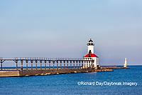 64795-02908 Michigan City Lighthouse & Pier Michigan City, MI