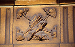 AREMJB Carving detail of four winds blowing Kings Circus John Wood Bath Somerset England