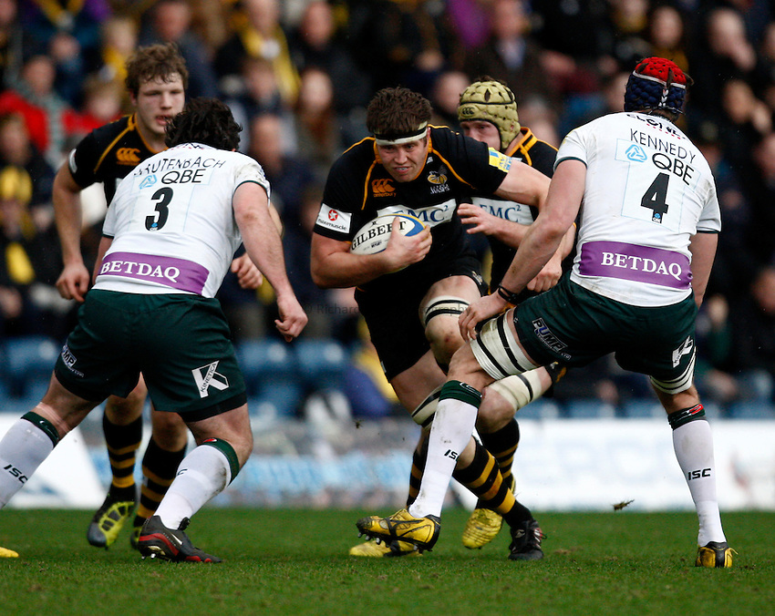 Photo: Richard Lane/Richard Lane Photography. London Wasps v London Irish. 02/03/2012. Wasps' James Cannon attacks.