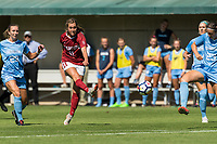 Stanford, CA - September 9, 2018: Stanford defeats the North Carolina Tar Heels 2-1 in overtime in a Women's soccer game at Laird Q. Cagan Stadium.