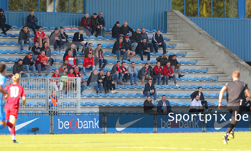 20191023 - Genk: Liverpool supporters are pictured during the UEFA Youth League group stages match between KRC Genk Youth and Liverpool FC on October 23, 2019 at KRC Genk Stadium Arena B, Genk, Belgium. PHOTO:  SPORTPIX.BE   SEVIL OKTEM