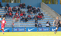 20191023 - Genk: Liverpool supporters are pictured during the UEFA Youth League group stages match between KRC Genk Youth and Liverpool FC on October 23, 2019 at KRC Genk Stadium Arena B, Genk, Belgium. PHOTO:  SPORTPIX.BE | SEVIL OKTEM