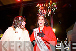 Rose of Tralee Nicola McEvoy at the Fireworks display at the Aquadome in Tralee on New Years Eve.