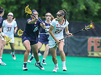 College Park, MD - May 19, 2018: Maryland Terrapins Grace Griffin (22) takes a shot during the quarterfinal game between Navy and Maryland at  Field Hockey and Lacrosse Complex in College Park, MD.  (Photo by Elliott Brown/Media Images International)