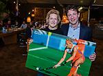 VOGELENZANG -  Carlien Dirkse van den Heuvel (Ned) nam afscheid van Oranje, met Tom van Kuyk (Rabo) . Spelerslunch KNHB 2019. (Ned)   COPYRIGHT KOEN SUYK
