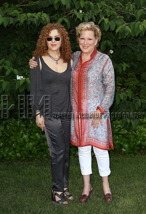 Bernadette Peters, Bette Midler attends the 12th Annual Spring Picnic Celebrating the Bette Midler New York Restoration Project's 18th Anniversary at Gracie Mansion in New York City on May 30th, 2013