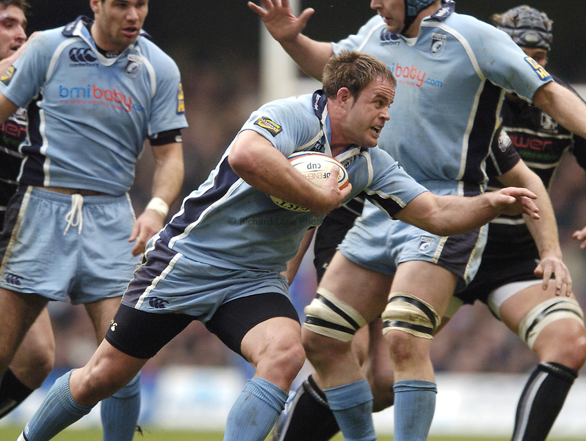 Photo: Jonathan Butler..Ospreys v Cardiff Blues. EDF Energy Cup. 24/03/2007..Xavier Rush of Cardiff.