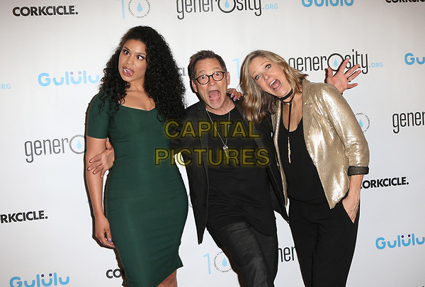 BEVERLY HILLS, CA - March 21: Jordin Sparks, Philip Wagner, Holly Wagner, At Generosity.org Fundraiser For World Water Day At Montage Hotel In California on March 21, 2017. <br /> CAP/MPI/FS<br /> &copy;FS/MPI/Capital Pictures