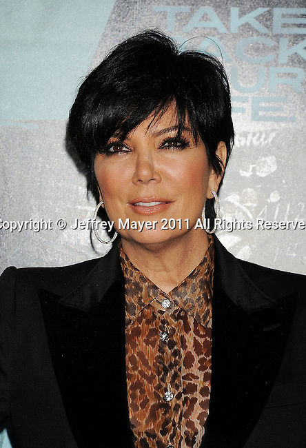 "WESTWOOD, CA - FEBRUARY 16: Kris Jenner arrives at the ""Unknown"" Los Angeles Premiere at Mann Village Theatre on February 16, 2011 in Westwood, California."