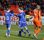 20.3.2018: Dundee Utd v Queen of the South<br /> Kyle Jacobs scores goal no 2 for QoS from the spot and celebrates