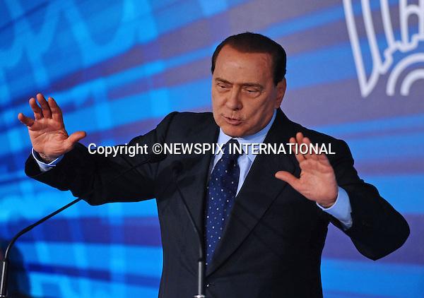 "SILVIO BERLUSCONI_Italian Prime Minister.Assembly of Confindustria Monza and Brianza, Autodromo Nazionale di Monza, Monza_13/10/2009.Mandatory Credit Photo: ©NEWSPIX INTERNATIONAL..**ALL FEES PAYABLE TO: ""NEWSPIX INTERNATIONAL""**..IMMEDIATE CONFIRMATION OF USAGE REQUIRED:.Newspix International, 31 Chinnery Hill, Bishop's Stortford, ENGLAND CM23 3PS.Tel:+441279 324672  ; Fax: +441279656877.Mobile:  07775681153.e-mail: info@newspixinternational.co.uk"