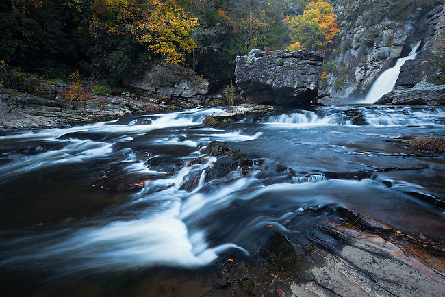 Autumn along Linville Falls, Blue Ridge Parkway