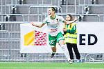 Stockholm 2015-04-11 Fotboll Damallsvenskan Hammarby IF DFF - Mallbackens IF Sunne  :  <br /> Hammarbys Elina Johansson jublar efter sitt 1-0 m&aring;l under matchen mellan Hammarby IF DFF och Mallbackens IF Sunne  <br /> (Foto: Kenta J&ouml;nsson) Nyckelord:  Fotboll Damallsvenskan Dam Damer Tele2 Arena Hammarby HIF Bajen Mallbacken jubel gl&auml;dje lycka glad happy