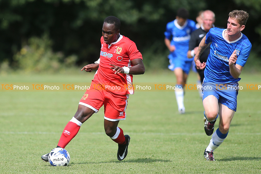Dylan Asonganyi of MK Dons in action during Gillingham Under-18 vs Milton Keynes Dons Under-18, EFL Youth Alliance Football at Beechings Cross, Gillingham FC Training Ground on 26th August 2017