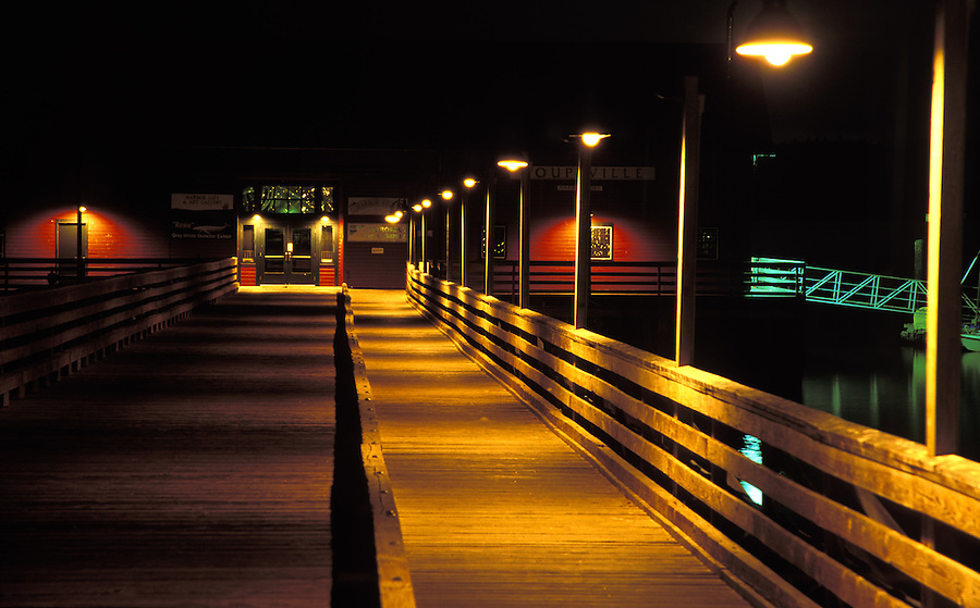 Coupeville Wharf at night, Ebey's Landing National Historic Reserve, Coupeville, Whidbey Island, Washington