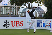 Javier Colomo (ESP) on the 1st tee during Round 1 of the UBS Hong Kong Open, at Hong Kong golf club, Fanling, Hong Kong. 23/11/2017<br /> Picture: Golffile | Thos Caffrey<br /> <br /> <br /> All photo usage must carry mandatory copyright credit     (&copy; Golffile | Thos Caffrey)