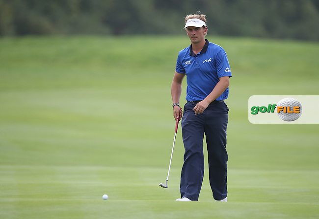 Joost Luiten (NED) shows true grit and ants every birdie chance to drop during Round Three of the ISPS Handa Wales Open 2014 from the Celtic Manor Resort, Newport, South Wales. Picture:  David Lloyd / www.golffile.ie