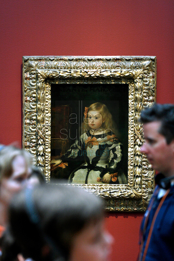 """The Infanta Margarita"" by Diego Velázquez in a gallery during the pubic opening of Louvre Atlanta at the High Museum of Art. Over the next three years, the High Museum will feature hundreds of works of art from the Musée du Louvre in Paris."