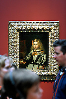 """""""The Infanta Margarita"""" by Diego Velázquez in a gallery during the pubic opening of Louvre Atlanta at the High Museum of Art. Over the next three years, the High Museum will feature hundreds of works of art from the Musée du Louvre in Paris."""