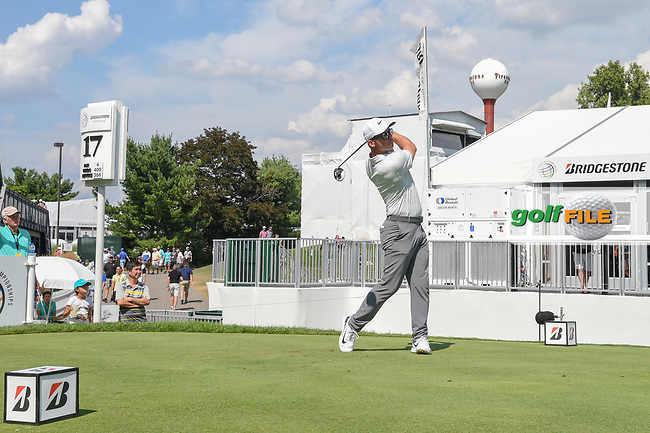 Paul Casey (ENG) watches his tee shot on 17 during 2nd round of the World Golf Championships - Bridgestone Invitational, at the Firestone Country Club, Akron, Ohio. 8/3/2018.<br /> Picture: Golffile | Ken Murray<br /> <br /> <br /> All photo usage must carry mandatory copyright credit (© Golffile | Ken Murray)