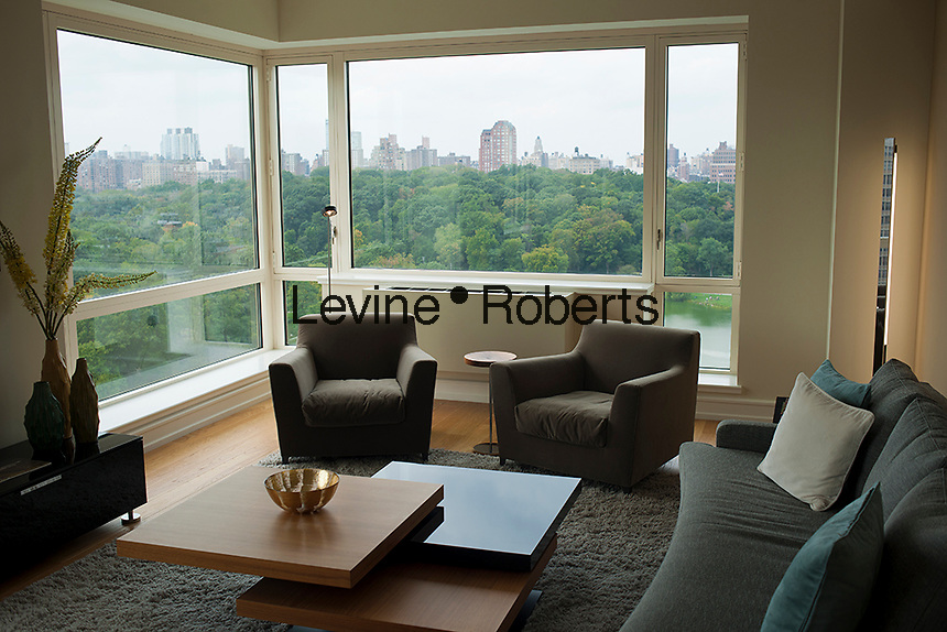 The northern end of Central Park  is seen from an apartment on Fifth Avenue in Harlem on Saturday, October 6, 2012 . (© Richard B. Levine)