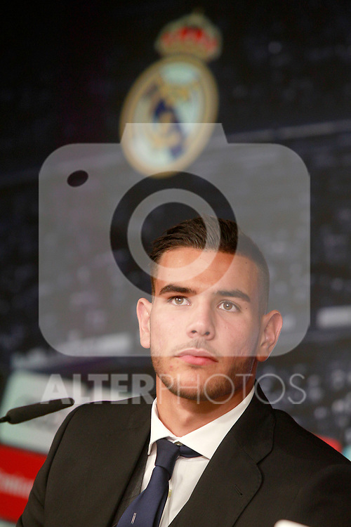 Real Madrid's new player Theo Hernandez during his official presentation. July 10, 2017. (ALTERPHOTOS/Acero)