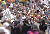 Pope Francis celebrates the Holy Mass with the Rite of Confirmation  in St Peter Square at the Vatican.on April 28, 2013