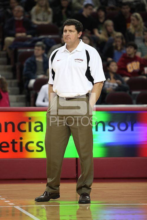 LOS ANGELES, CA - JANUARY 23:  John Kosty of the Stanford Cardinal during Stanford's 3-0 loss to the USC Trojans on January 23, 2009 at the Galen Center in Los Angeles, California.