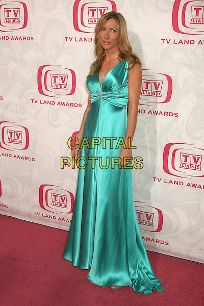 HEATHER MILLS.5th Annual TV Land Awards at Barker Hangar, Santa Monica, California, USA, 14 April 2007..full length turquoise blue green silk satin dress.CAP/ADM/BP.©Byron Purvis/AdMedia/Capital Pictures.
