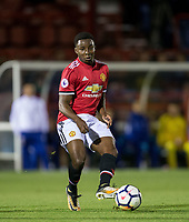 Tosin Kehinde of Manchester United during the U23 Premier League 2 match between Chelsea and Manchester United at the EBB Stadium, Aldershot, England on 18 September 2017. Photo by Andy Rowland.