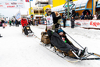 Rick Casillo during the ceremonial start of the 2018 Iditarod in Anchorage, Alaska on Saturday, March 3,  2018.<br /> <br /> Photo by Jeff Schultz/SchultzPhoto.com  (C) 2018  ALL RIGHTS RESERVED