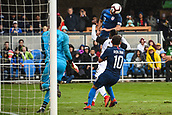 February 2nd 2019, San Jose, California, USA; USA midfielder Sebastian Lletget (17) scores his side's first goal from this header during the international friendly match between USA and Costa Rica at Avaya Stadium on February 2, 2019 in San Jose CA.